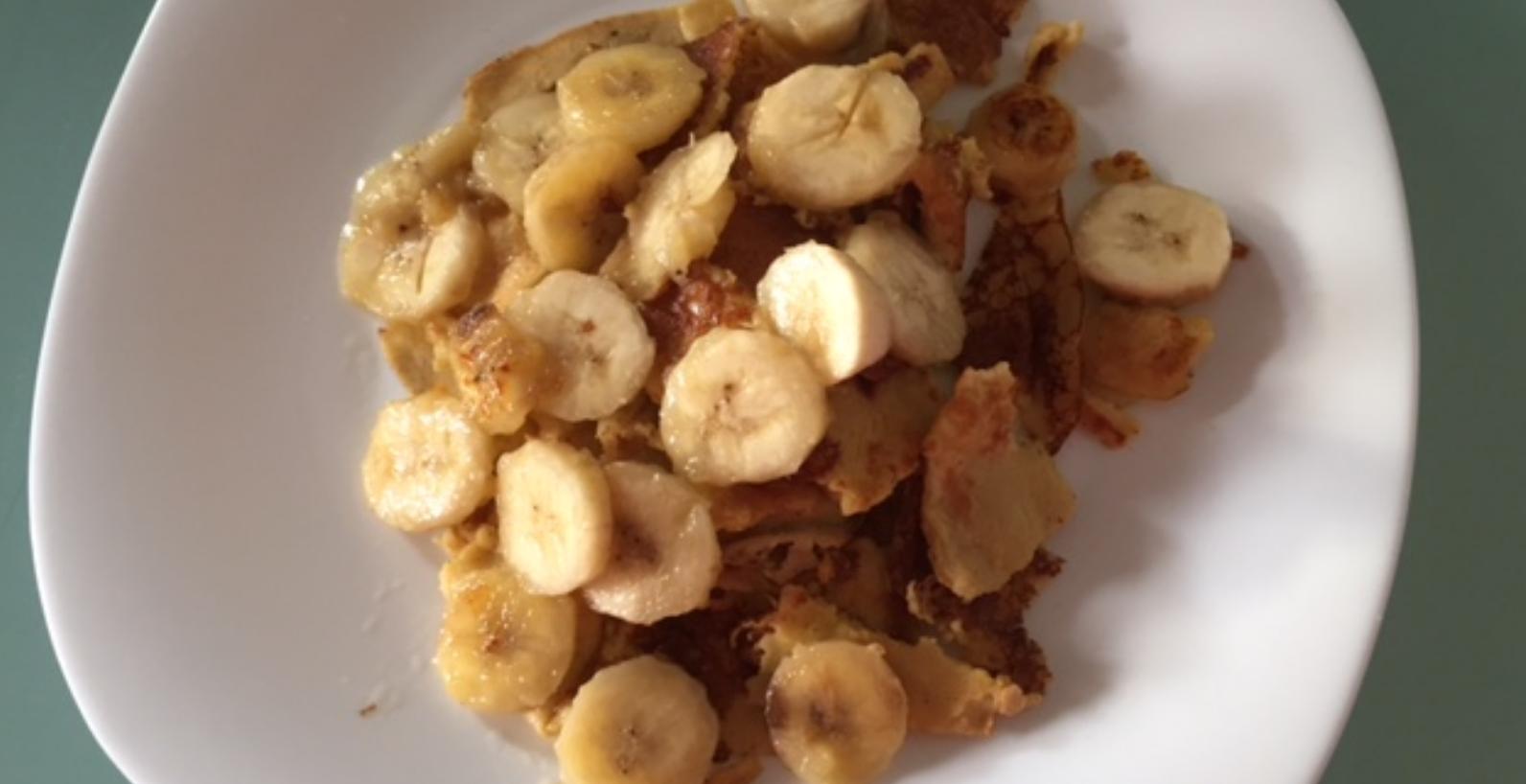 Praženec iz prosene moke s pečeno banano