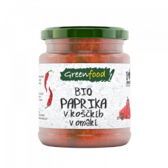 Eko paprika v koščkih v omaki, 260 g