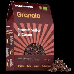 Eko presna granola z arašidovim maslom in kakavom