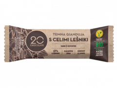 Eko temna gianduja, čokolada z lešniki